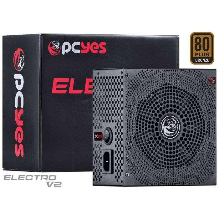 Fonte PcYes ATX 500W Real Electro V2 80 Plus Bronze - ELECV2PTO500W