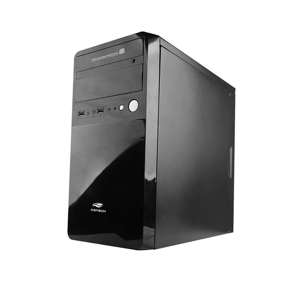 Gabinete C3 Tech Micro ATX 1 Baia MT-22BK Preto