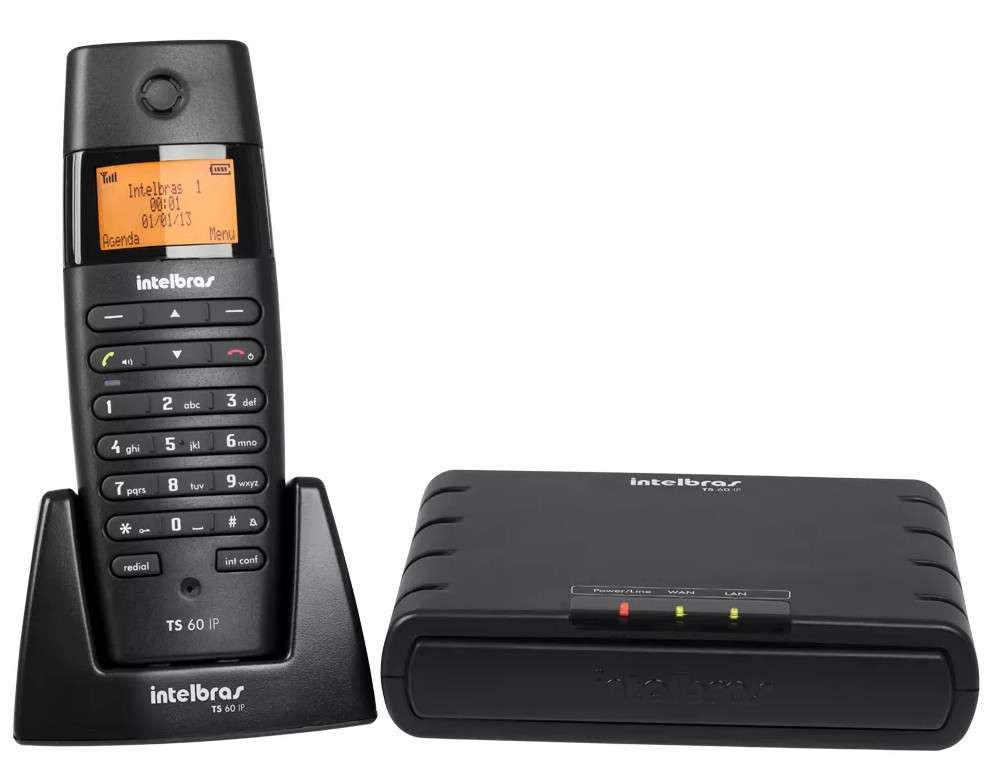 Microcentral Intelbras VOIP Sem Fio TS60IP Preto