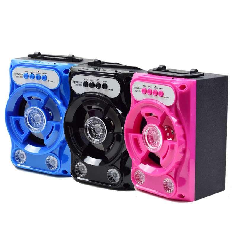 Caixa de Som Multimidia 5W FM Bluetooth USB TF ZYG-518
