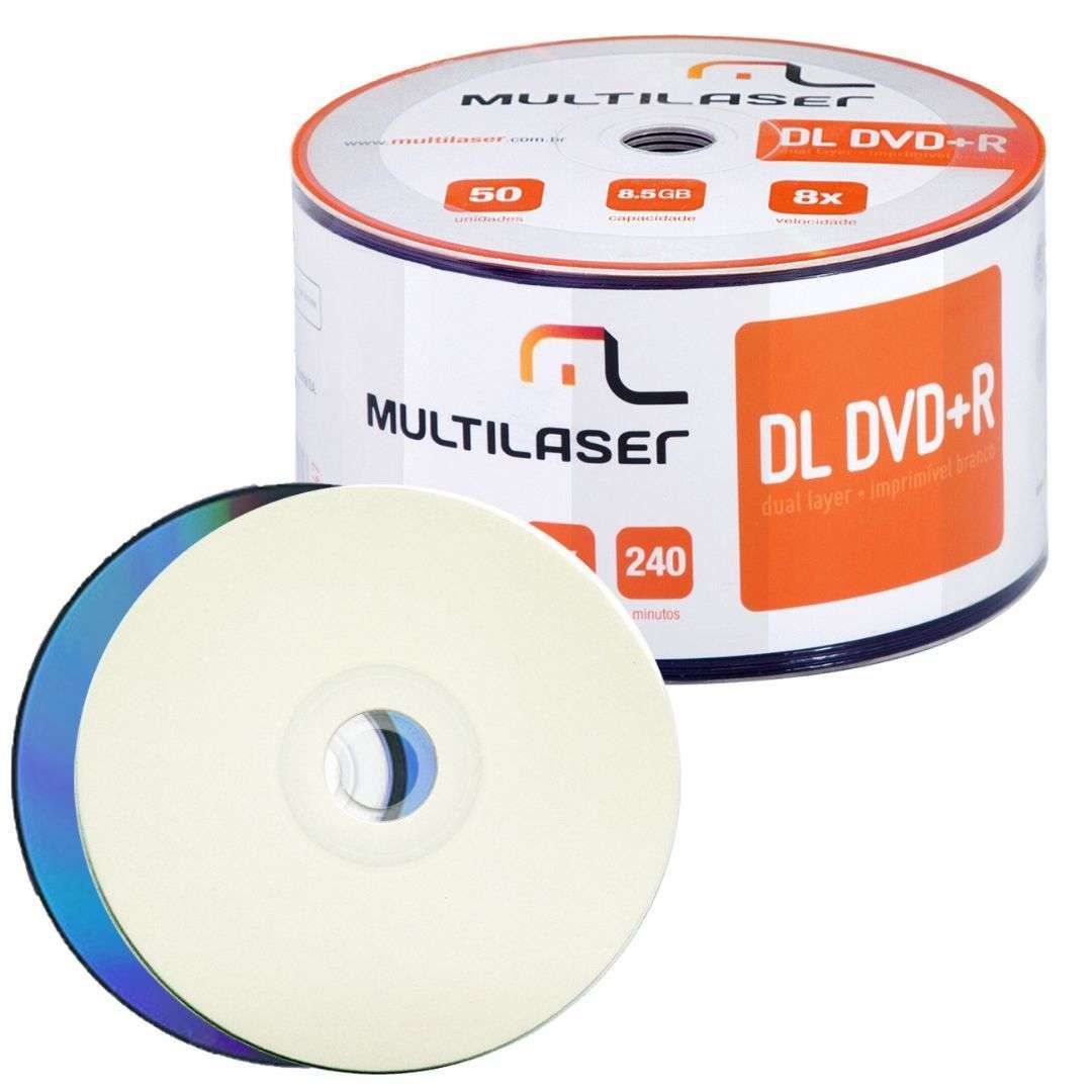 Multilaser DL DVD+R 8.5GB 8x Imprímivel Shrink  DV047