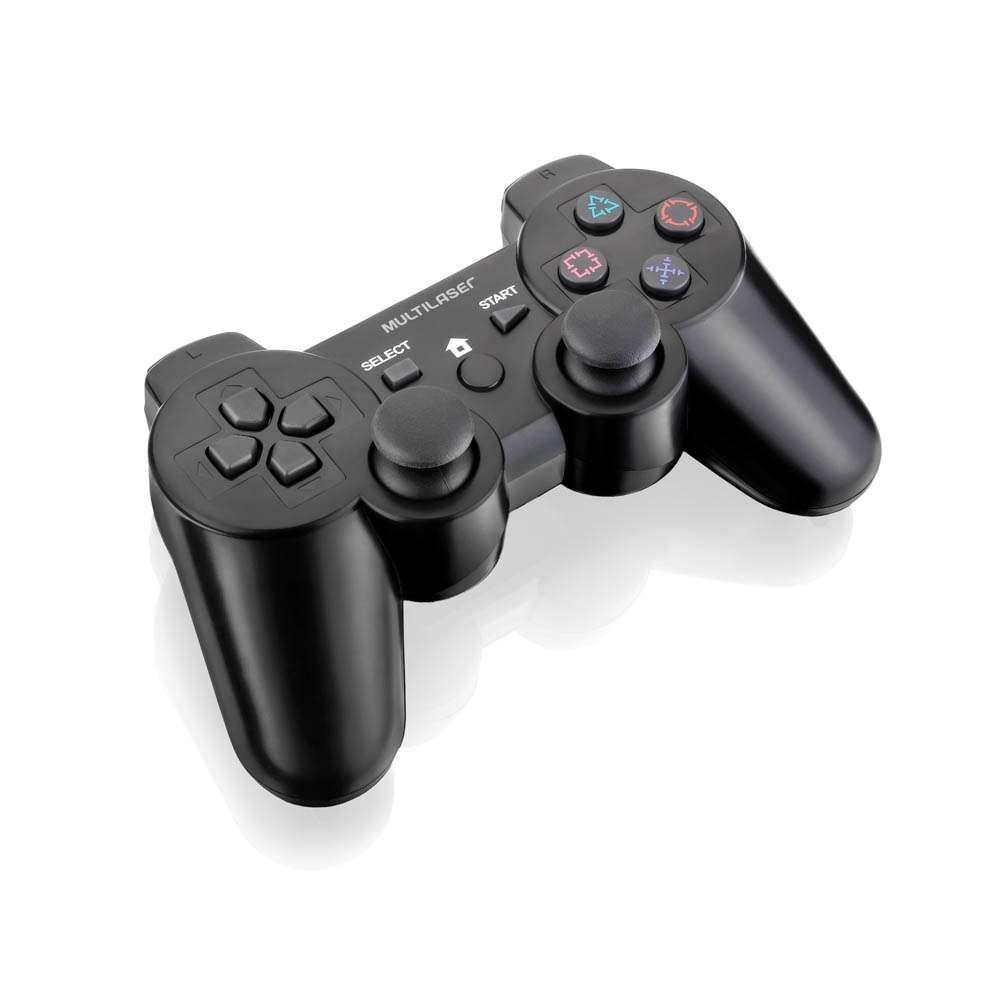 Controle Multilaser 3 em 1 Sem Fio PS2/PS3/PC JS072