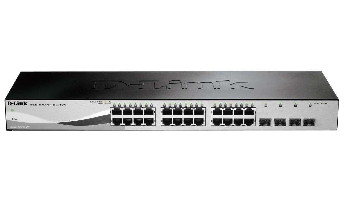 Switch Gerenciável D-Link 24+4 portas Gigabit - DGS-1210-28