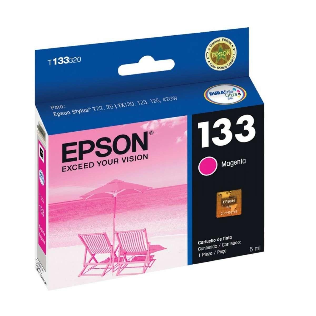 Cartucho de Tinta Epson T133120-Br Magenta 5ml