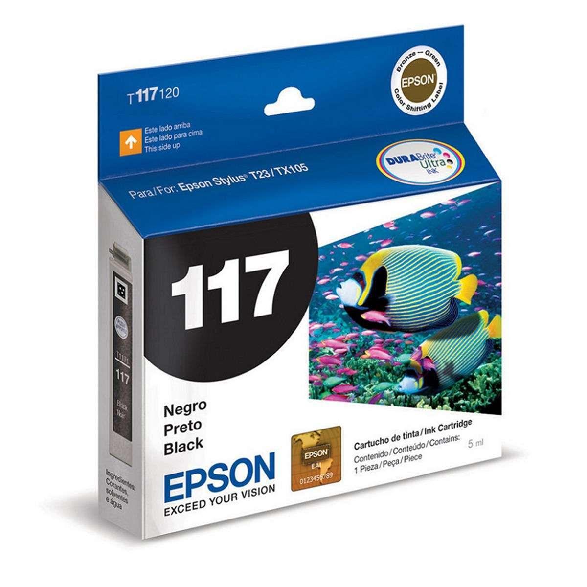 Cartucho de Tinta Epson T117120-BR Preto 5ml