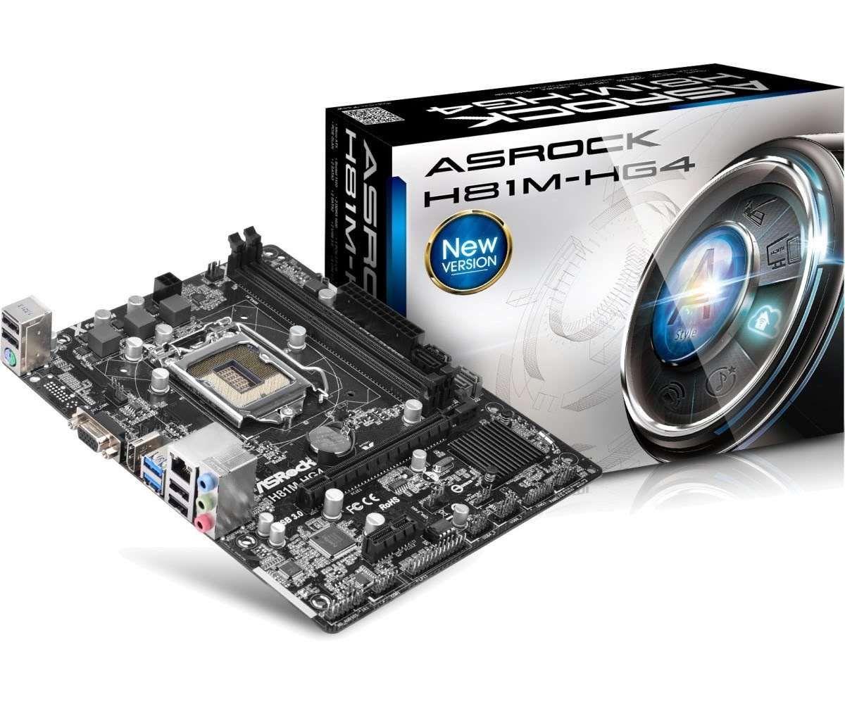 Placa Mãe AsRock p/ Intel LGA 1150 mATX H81M-HG4 D-Sub, DDR3, HDMI, SATA 6Gb/s , USB 3.0