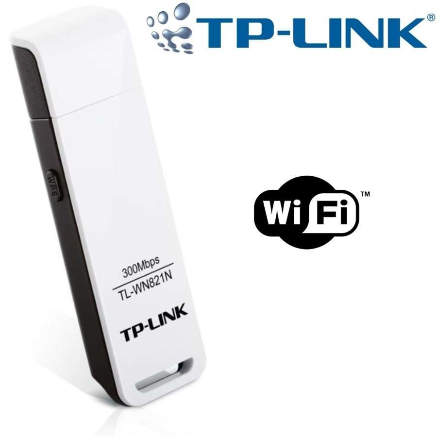 Adaptador Wireless USB N 300Mpbs TL-WN821N - TP-Link