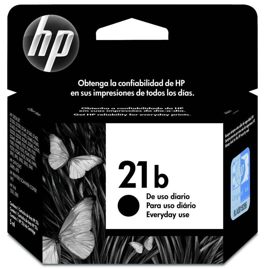 Cartucho de tinta HP Everyday 21B C9351BB Preto 7ml