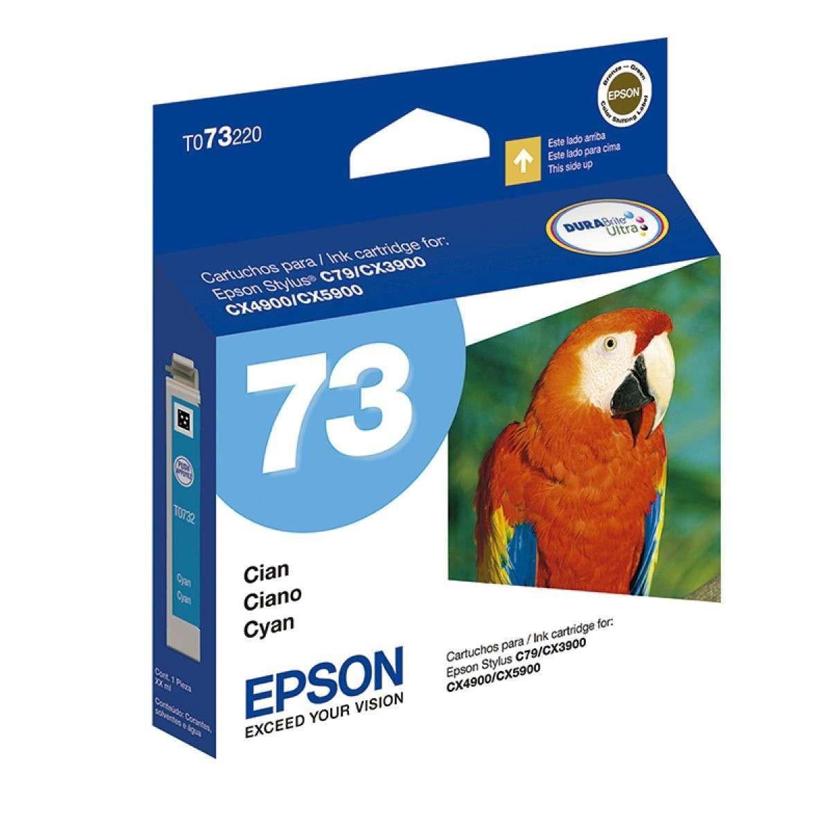 Cartucho de Tinta Epson TO73220-BR Ciano 5 ml