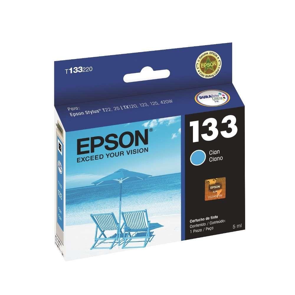 Cartucho de Tinta Epson T133220-Br Ciano