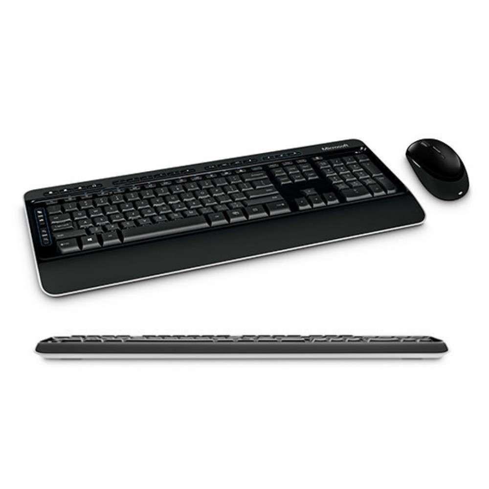 Kit Teclado e Mouse Microsoft Wireless Desktop Multimidia Blue Track 3000 MFC-00006