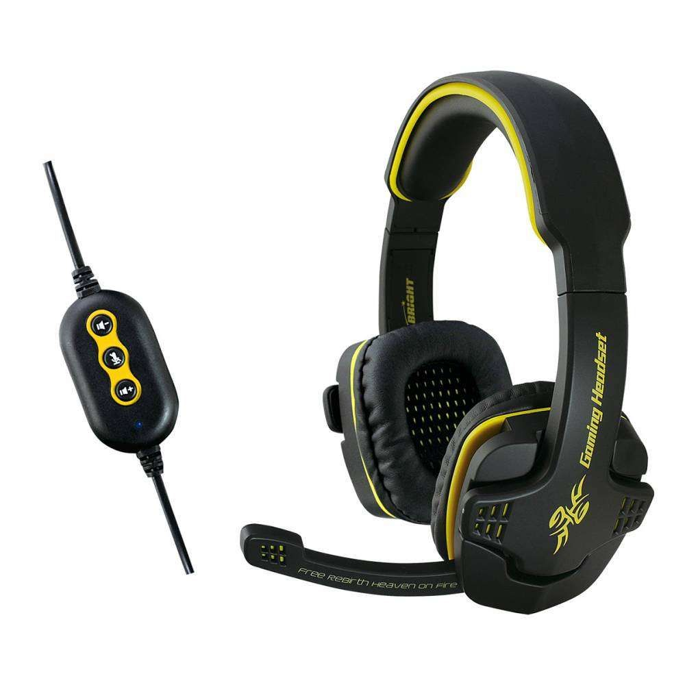 Headset Gamer 7.1 USB Bright 0354 Preto