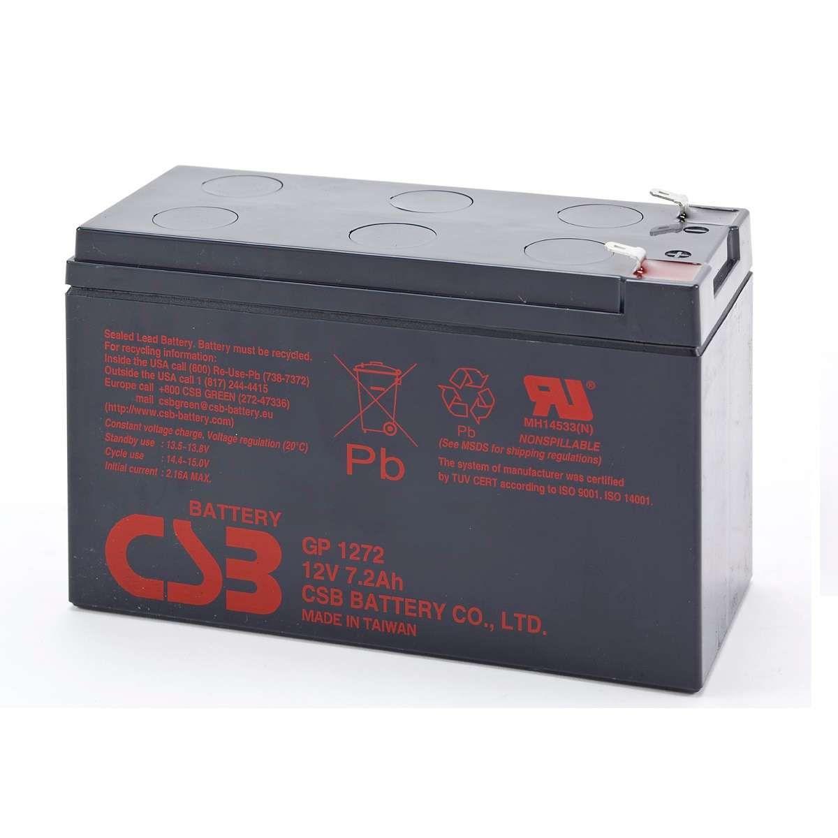 Bateria CSB 12V 7AH-28W GP 1272 F2 Original SMS/NHS