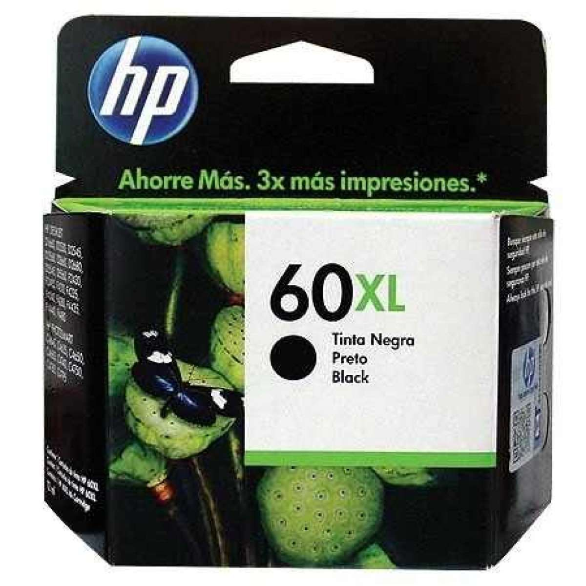Cartucho de Tinta HP 60XL CC641WB Preto 13.5ml