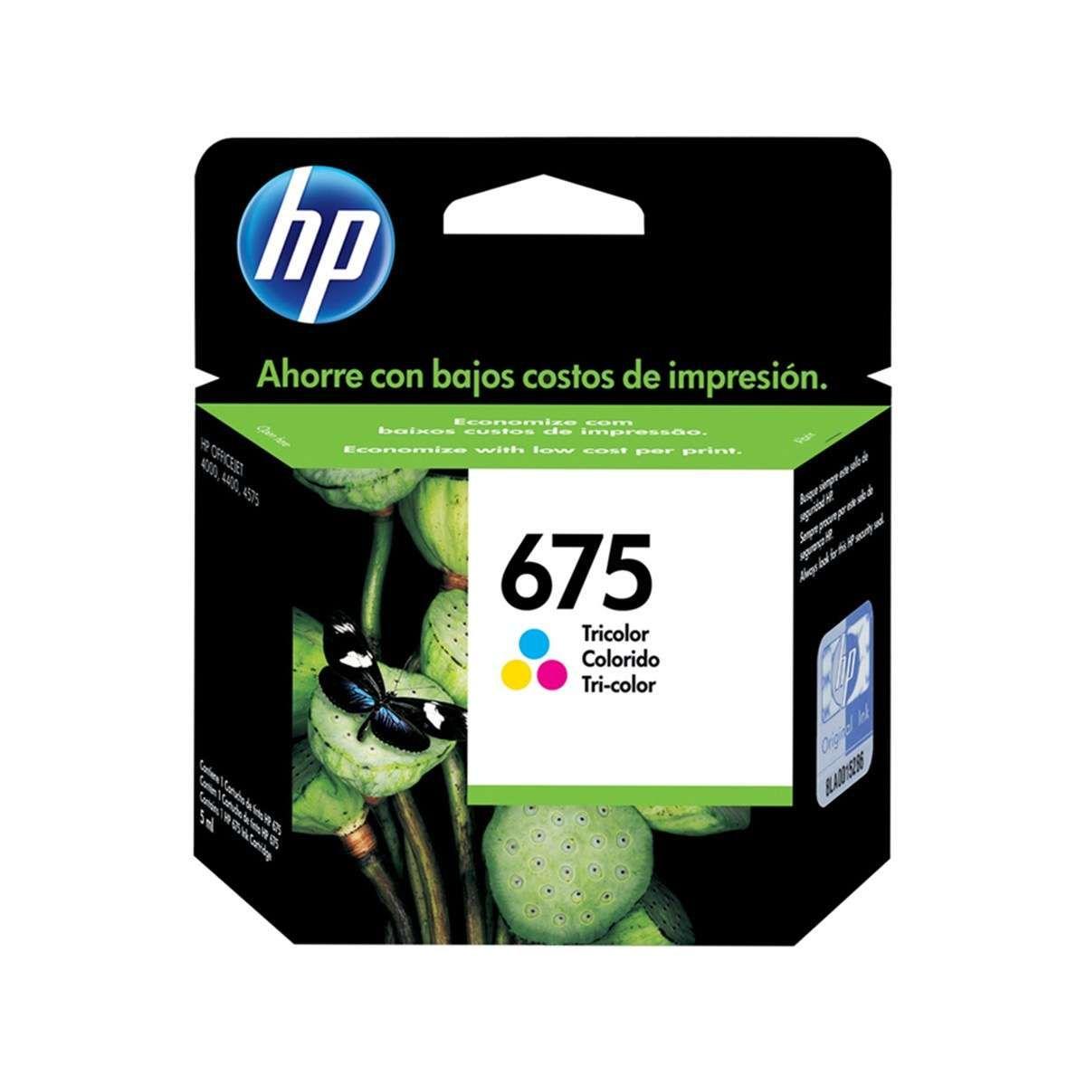Cartucho de Tinta HP 675 CN691AL Color 9 ml