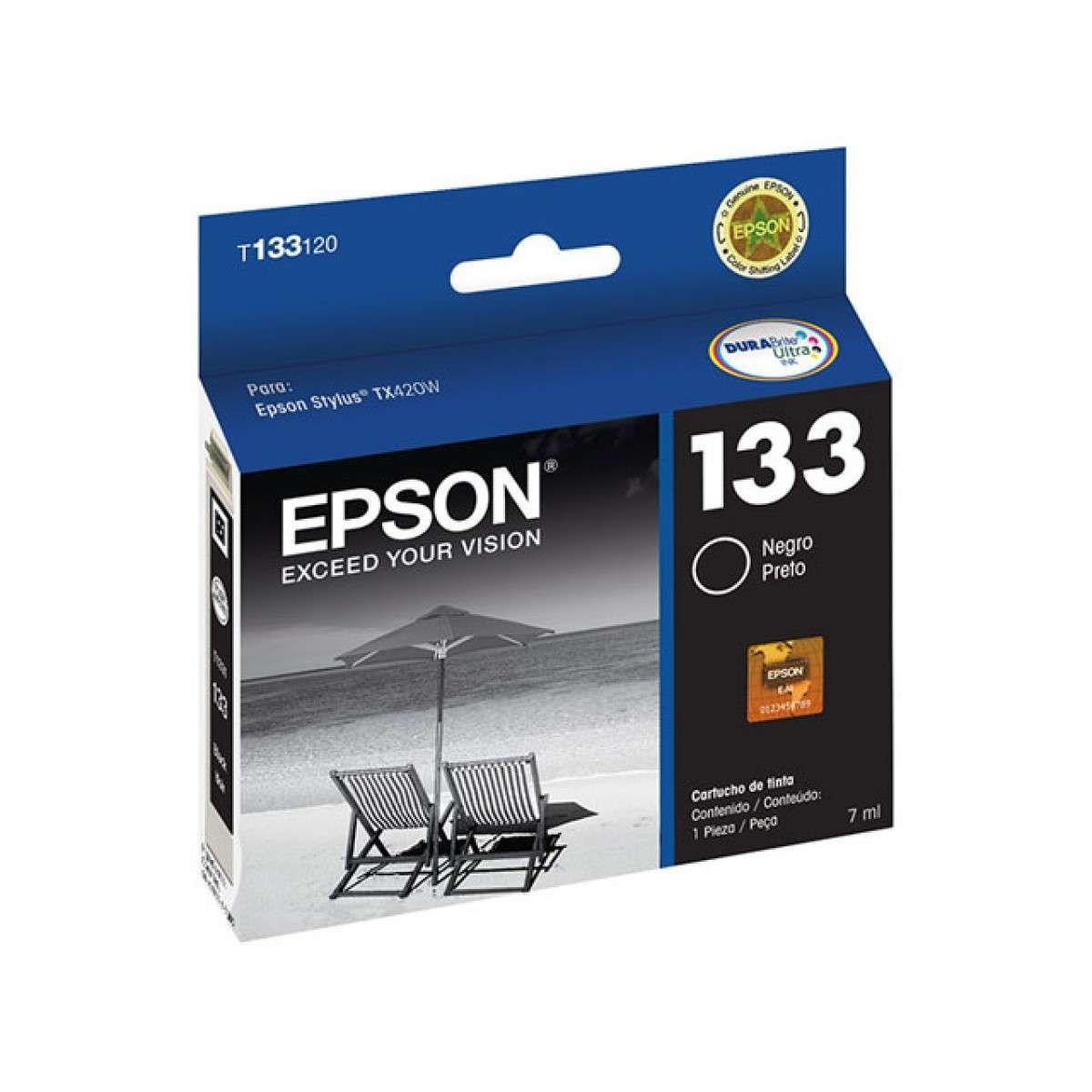 Cartucho de Tinta Epson T133120-Br Preto 5ml