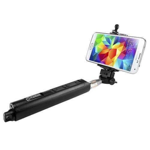 Bastão de Selfie c/ Bluetooth e Zoom no Bastão Preto