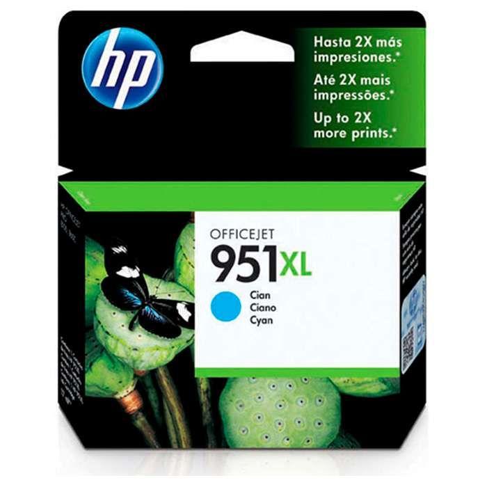 Cartucho de Tinta HP Officejet 951XL Ciano CN046AB 17 ml
