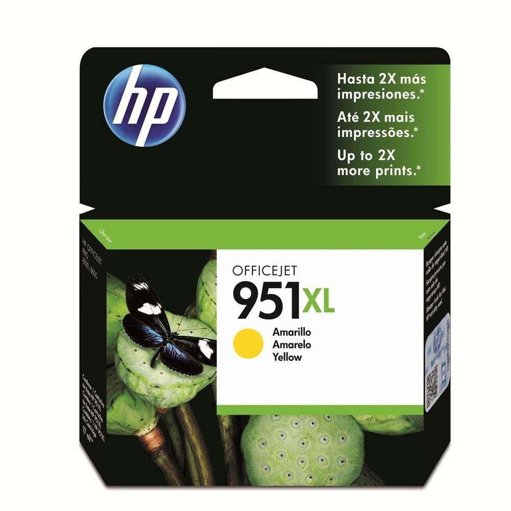 Cartucho de Tinta HP Officejet 951XL CN048AB Amarelo 17 ml