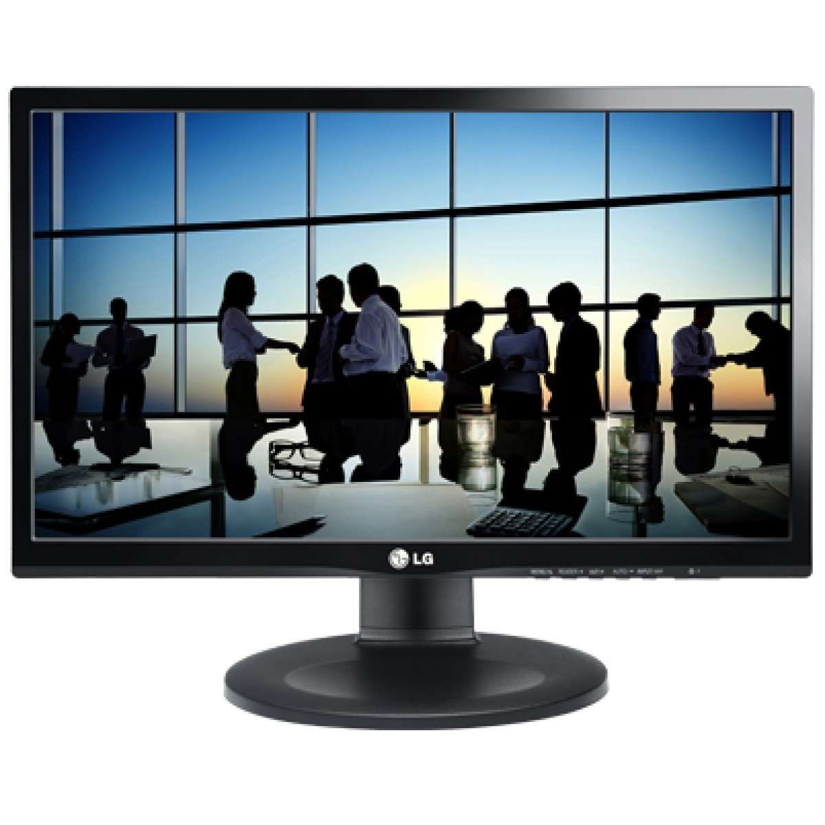 Monitor LG LED 21,5 IPS Full HD, Ajuste de Altura HDMI, DVI 22MP55PQ-B