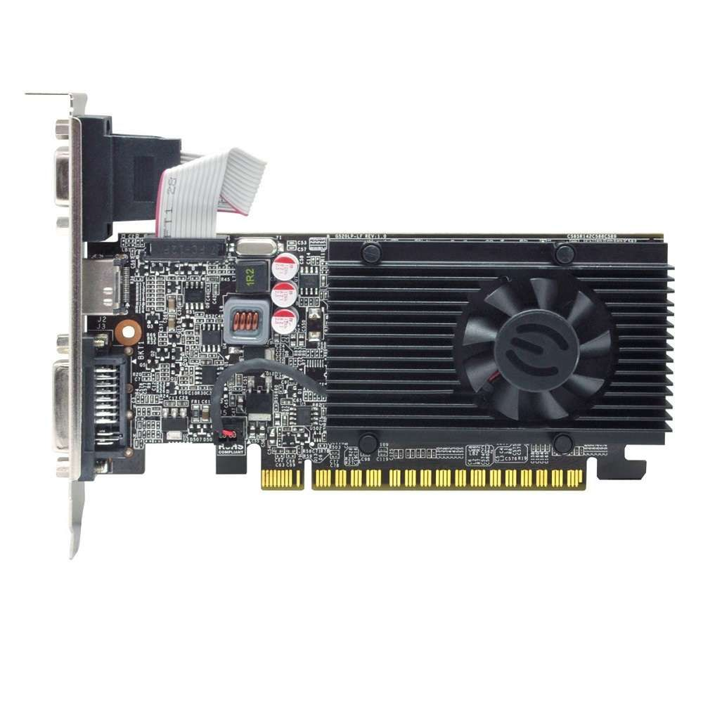 Placa de Vídeo eVGA GeForce GT 610 1GB DDR3 64 Bits - 01G-P3-2615-KR