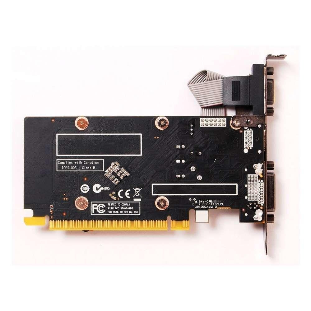 Placa de Vídeo Zotac GeForce GT 610 1GB DDR3 64 Bits - ZT-60602-10L