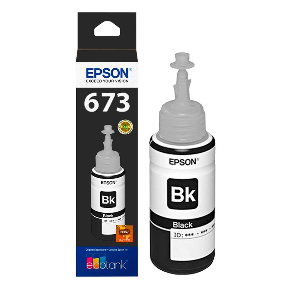 Refil de Tinta Epson T673120-AL Preto l800 70ml