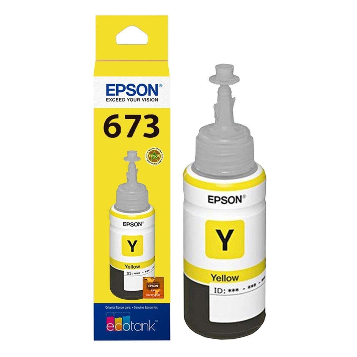 Refil de Tinta Epson T673420-AL Amarelo l800 70 ml
