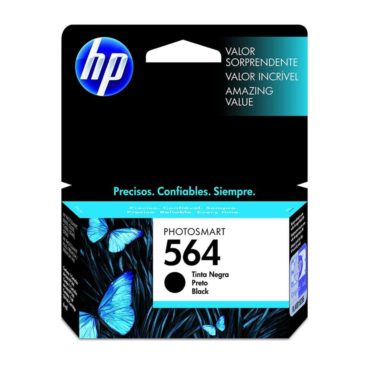 Cartucho de Tinta HP 564 CB316WL Preto 7,5ml