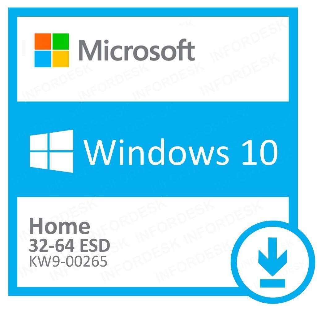 Microsoft Windows 10 Home 32/64 Bits ESD KW9-00265 - Digital Download