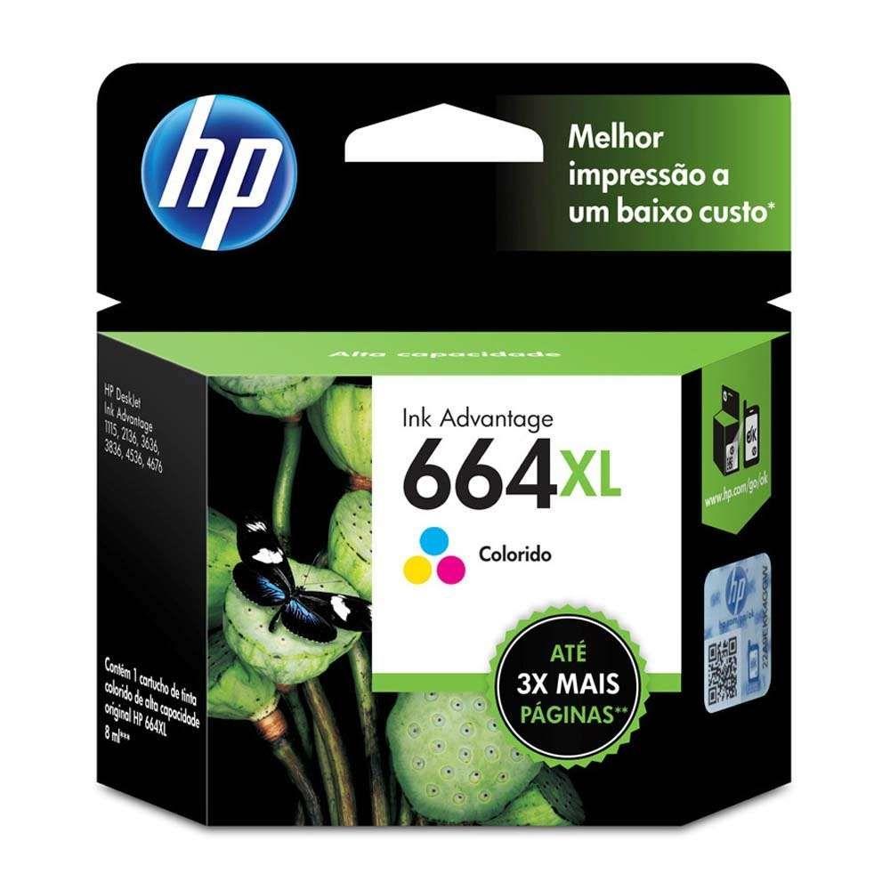 Cartucho de Tinta HP 664XL F6V30AB Color 8ml
