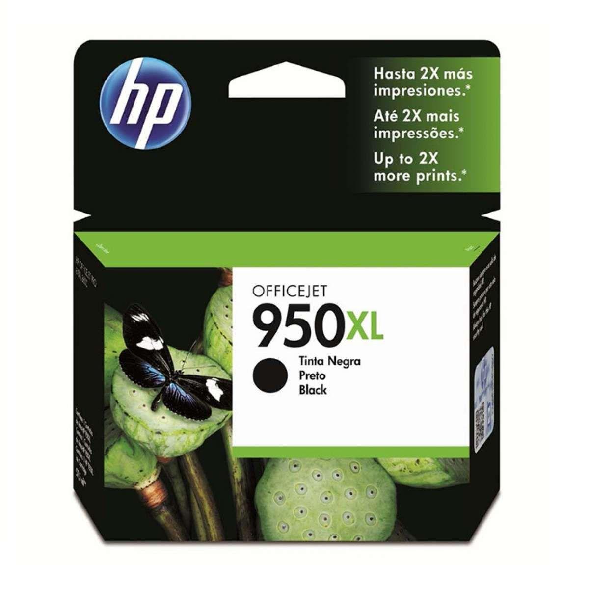 Cartucho de Tinta HP OfficeJet 950XL CN045AB Preto 53 ml