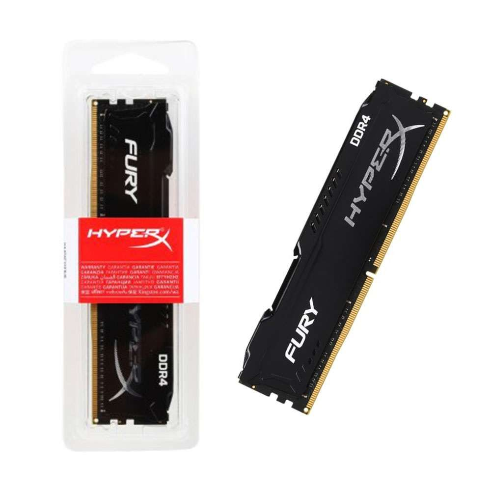 Memória Kingston HyperX FURY DDR4 8GB 2400Mhz CL15 Black Series - HX424C15FB2/8