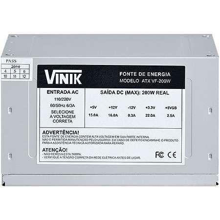 Fonte VINIK 200W VF200W ( S/Cabo de Força)