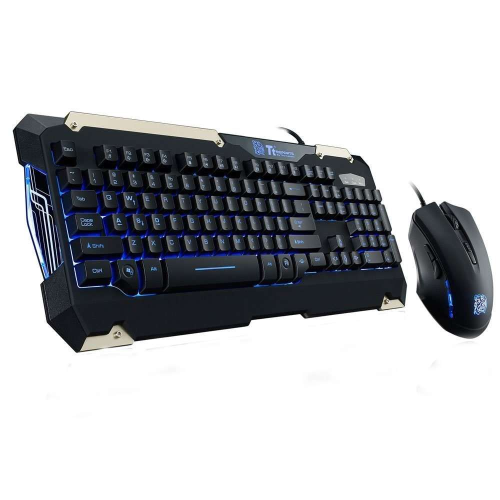 Kit Teclado e Mouse Gamer Thermaltake TT Sports Commander Combo Multi Backlit- KB-CCM-PLBL