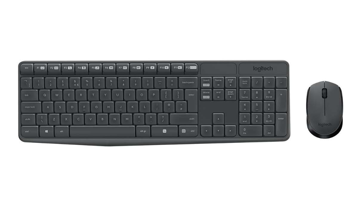 Kit Teclado e Mouse Logitech Wireless Desktop MK235 Preto
