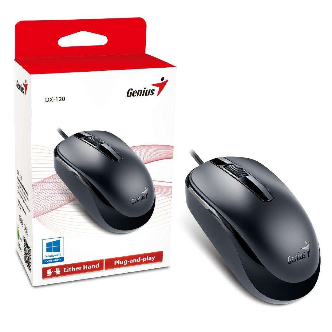 Mouse Óptico Genius DX-120 USB Preto
