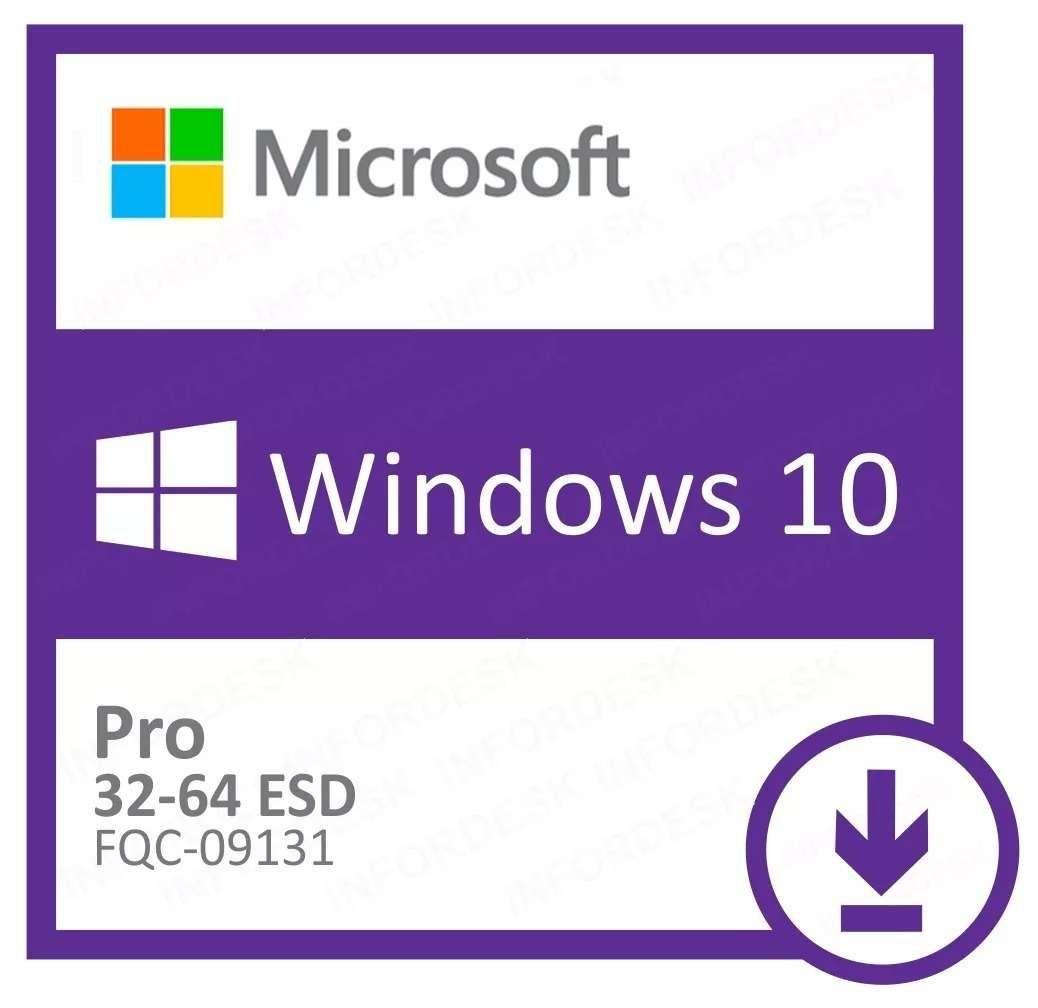 Microsoft Windows 10 Pro 32/64 Bits ESD FQC-09131 - Digital Download