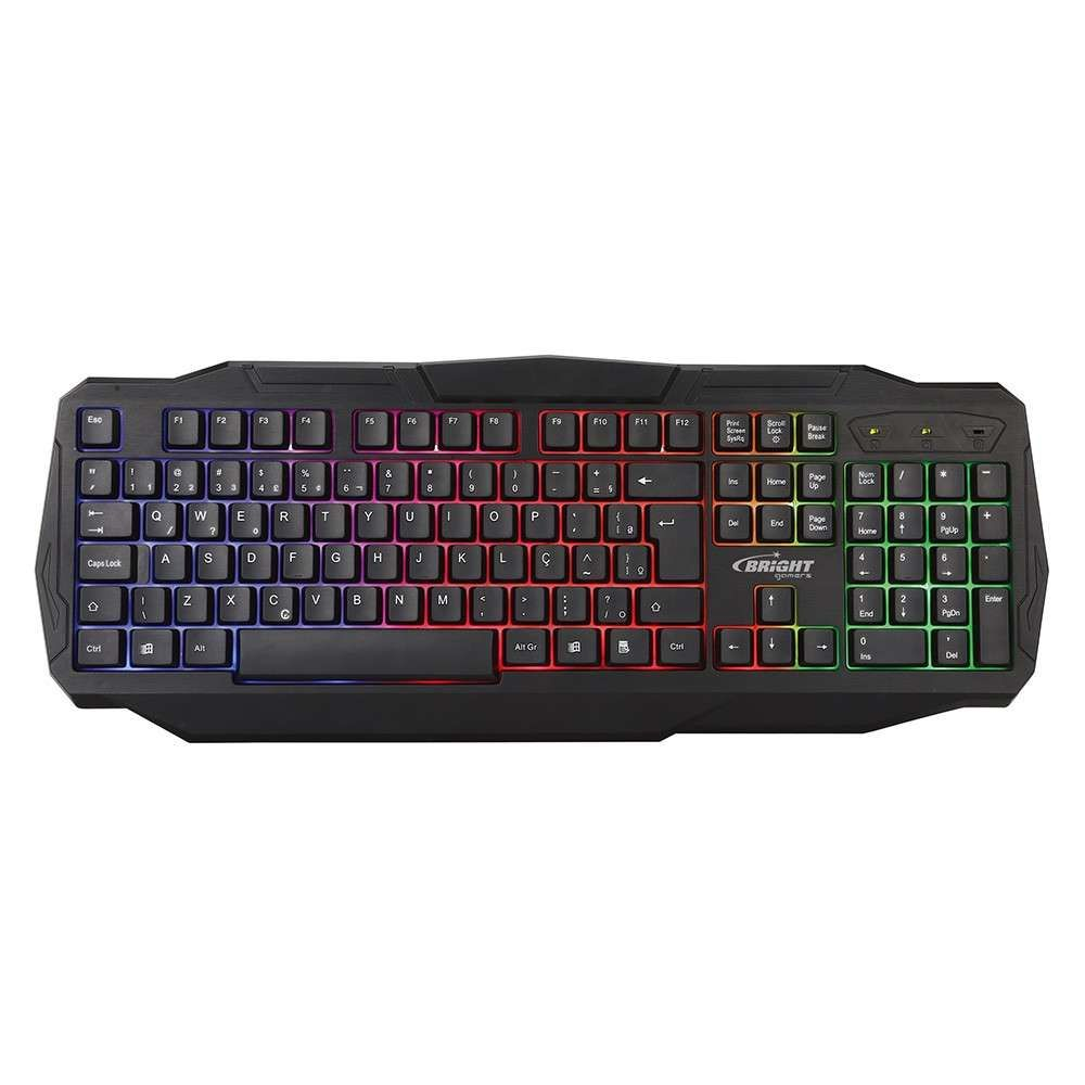 Teclado Gamer Led  Bright Usb Luminoso - 0464