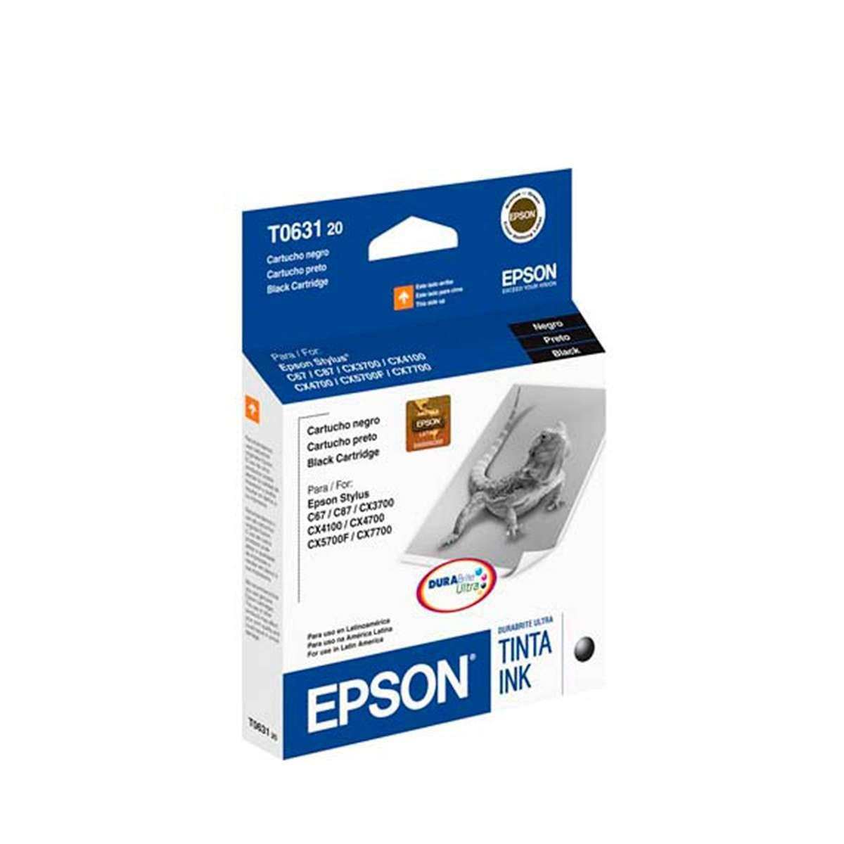 Cartucho de Tinta Epson T063120-BR Preto 8 ml