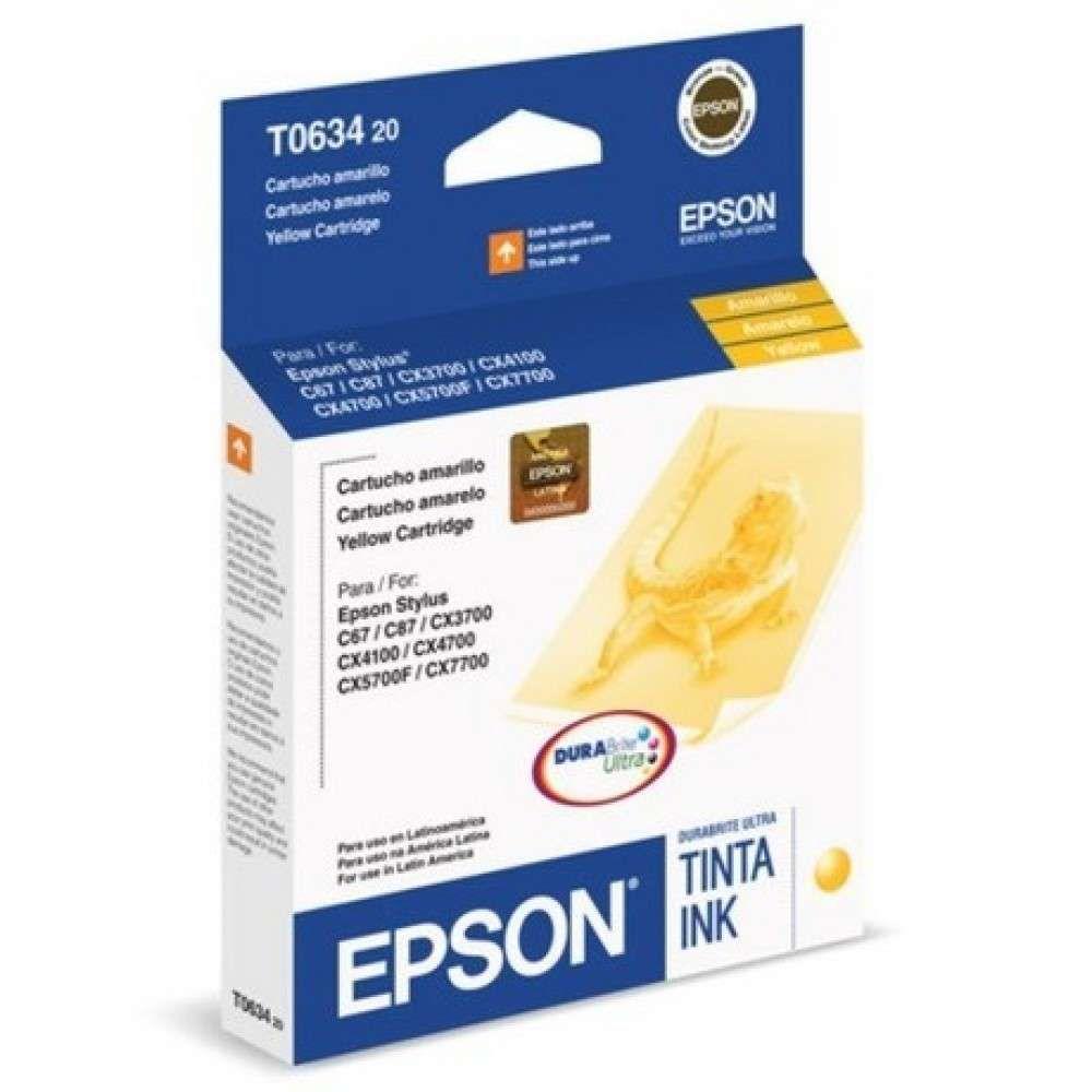 Cartucho de Tinta Epson T063420-AL Amarelo 8 ml