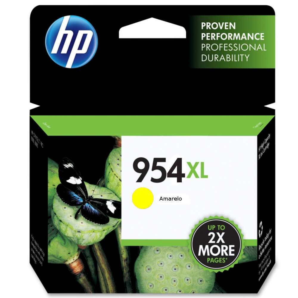 Cartucho de Tinta HP Officejet 954XL L0S68AB Amarelo 20 ml