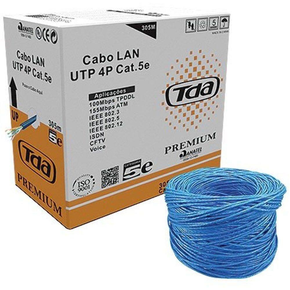 Cabo De Rede Tda Cat5e 24awg 4p Caixa C/ 305m Azul