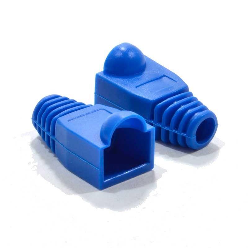 Capa para Conector RJ45 PVC Azul Pacote com 100