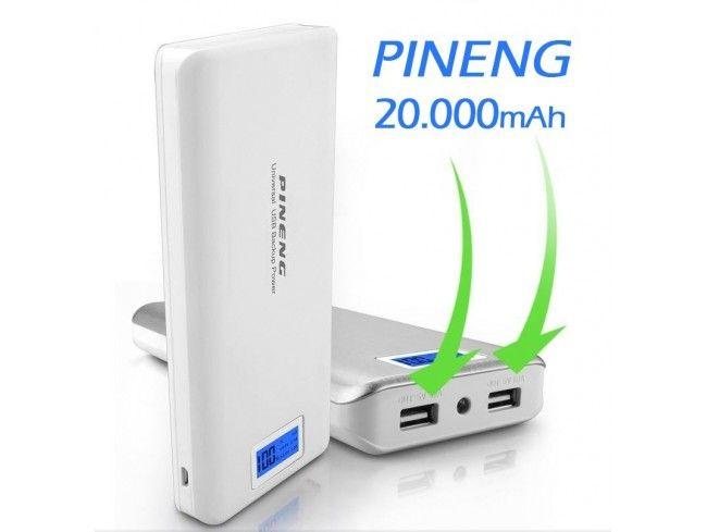 Carregador Portátil Power Bank 20.000mAh Pineng - PN-999
