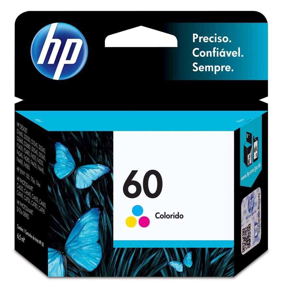 Cartucho de Tinta HP 60 CC643WB Color 6,5ml