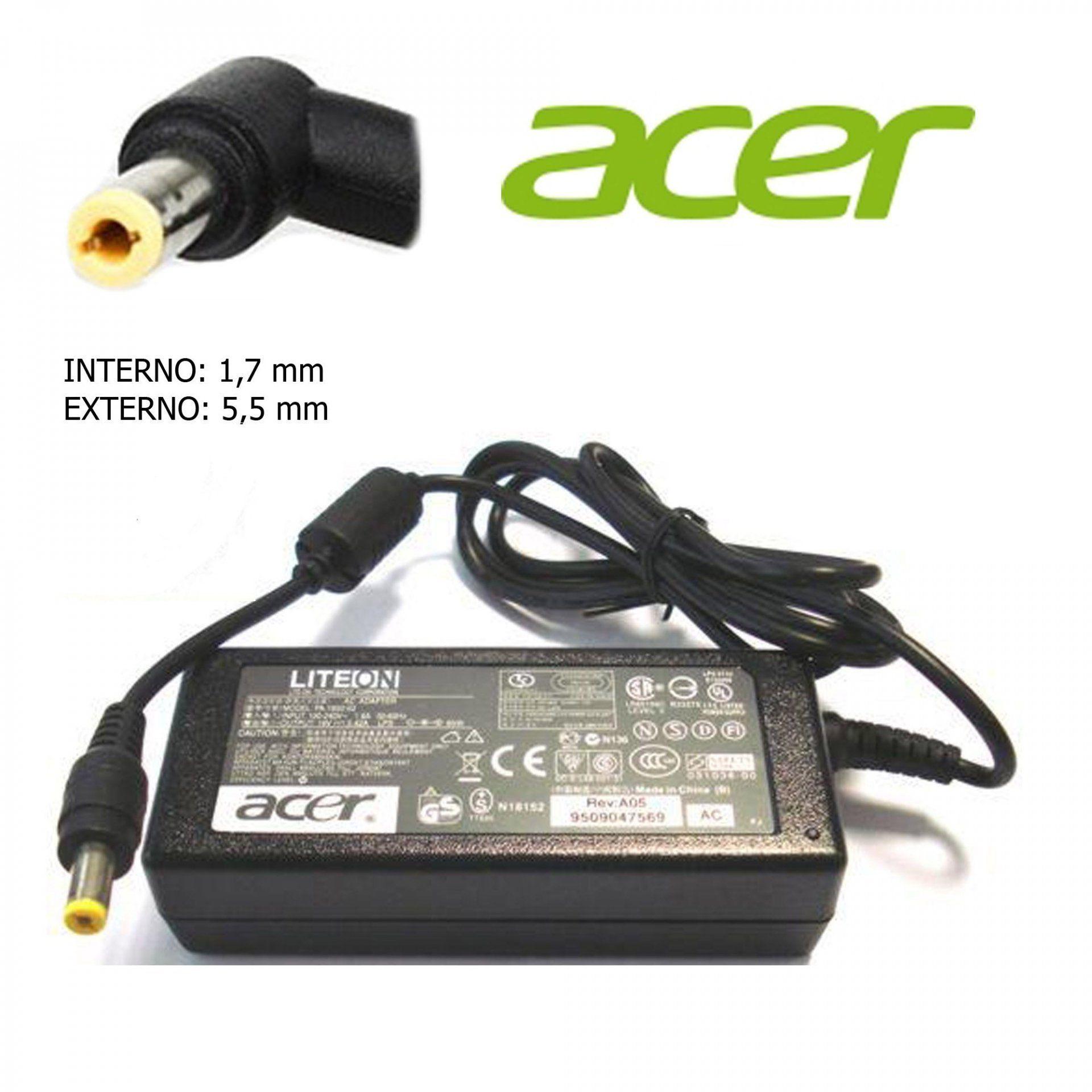 Fonte para Notebook ACER 19V 3.42A 65W Pino 5.5x1.7mm - Compatível
