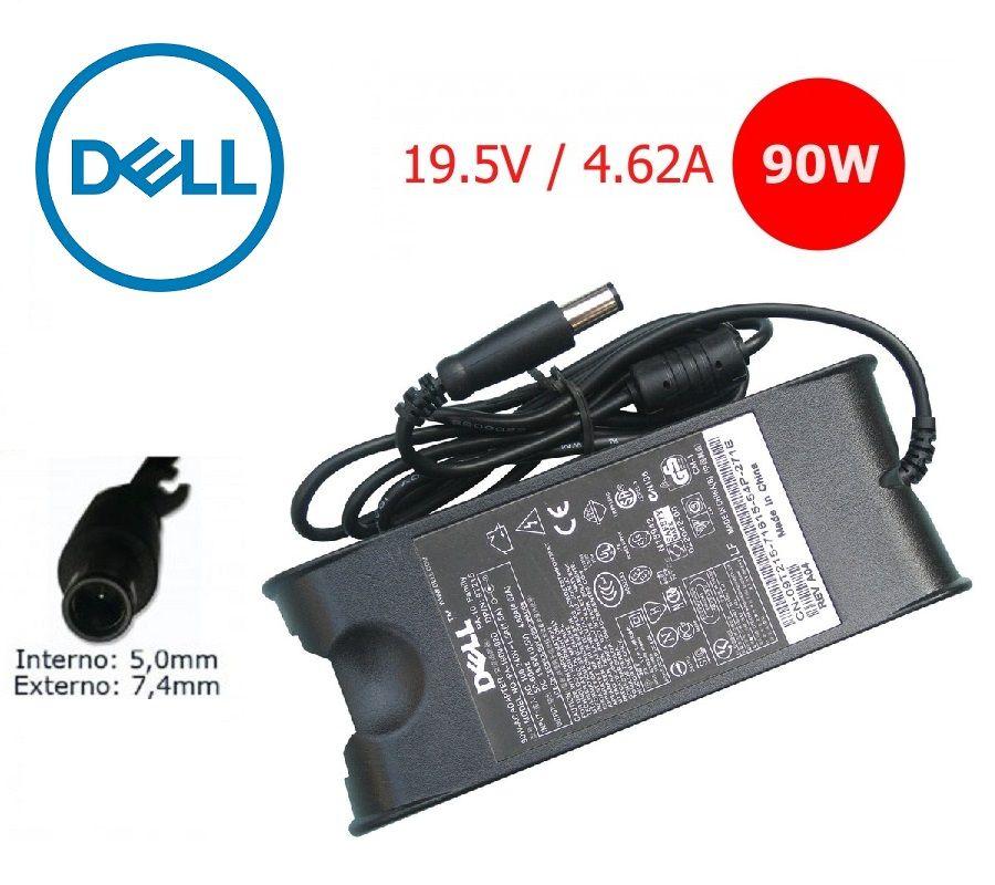 Fonte para Notebook  Dell 19.5v 4,62 90W 7.4x5.0mm  -  Compatível