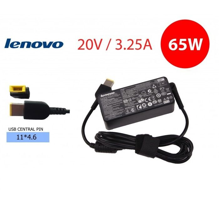 Fonte para Notebook  LENOVO 20V 3,25A Pino tipo USB  -  Compatível