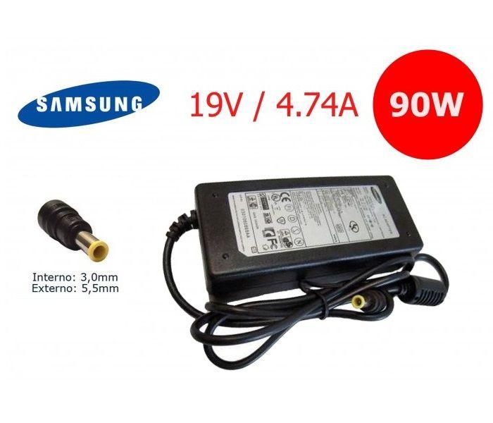 Fonte para Notebook Samsung 19v 4,74a 90W AP04214-UV  5.5 x 3.0mm